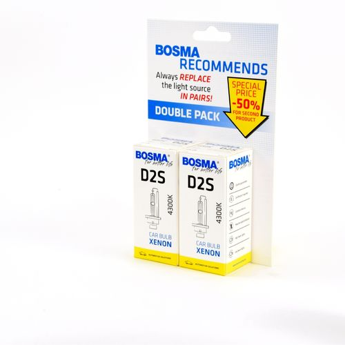 DOUBLE PACK XENON 85V 35W P32d-2 D2S 4300K